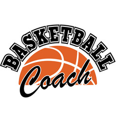 Basketball coach on white background vector