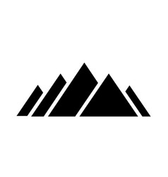 Black mountains logo from triangles on white vector