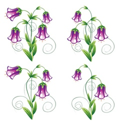 Bluebell Flower with Leaves vector