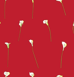 Calla sparse pattern on red vector