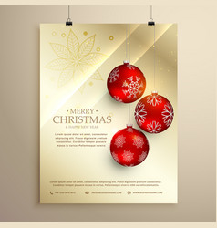 Christmas festival flyer template greeting card vector