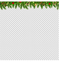 Christmas garland in transparent background vector