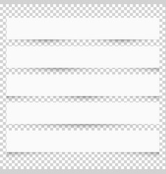 collection of white blank note papers with vector image