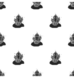 Crystals icon in black style isolated on white vector