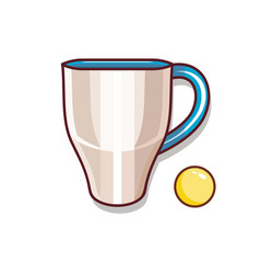 Cup of tea and a ball for children vector