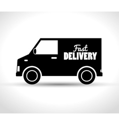 delivery fast truck transporting design vector image