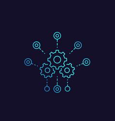 Development software integration icon vector