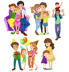 Different families vector image