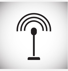 Drone control external antenna icon on white vector