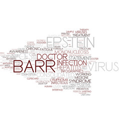 Epstein-barr word cloud concept vector