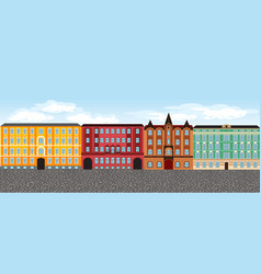 Europe city street set 3 multi-colored vector