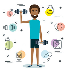Exercising people design vector