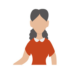 faceless woman adult vector image