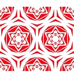 Geometric Red Rose Tile Pattern vector image