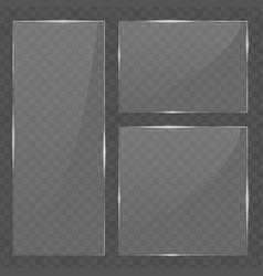 Glass transparent banners set vector