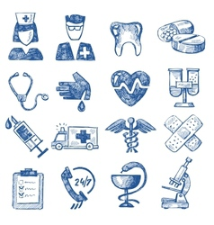 hand draw medical vector image