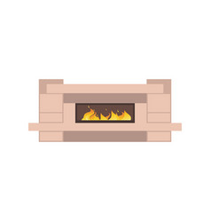 home fireplaces to paste in interior the vector image
