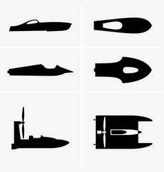 Hydroplane boat vector