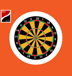 icon for playing darts vector image