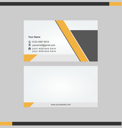 Impresive name card tamplate vector