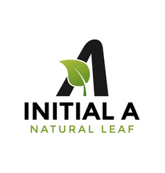 initial letter a and leaf logo icon design vector image
