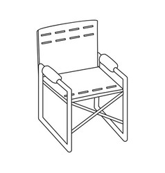 isolated object chair and folding icon vector image