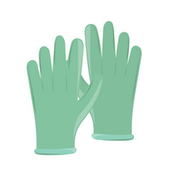 latex gloves protection vector image