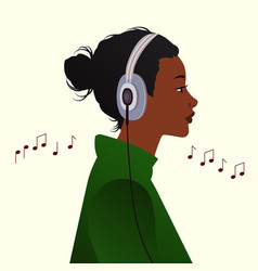 listening to music concept vector image