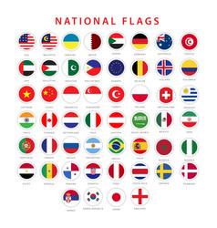 National flag template design vector