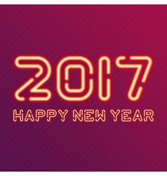new year design neon figures vector image