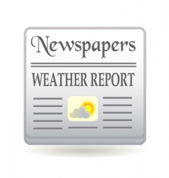newspaper weather report vector image
