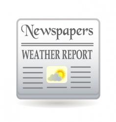 Newspaper weather report vector