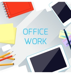 Office work and workplace organization concept vector image