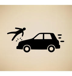 pedestrian hit vector image