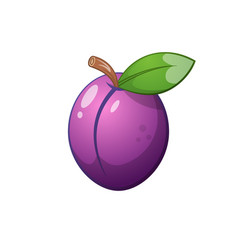 plum icon cartoon vector image