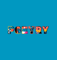 Poetry concept word art vector