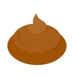 Poop icon isometric 3d style vector