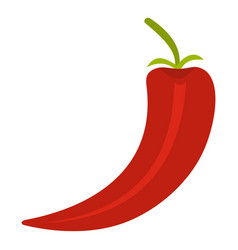 Red hot chili pepper icon isolated vector