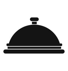 Restaurant cloche icon simple style vector image