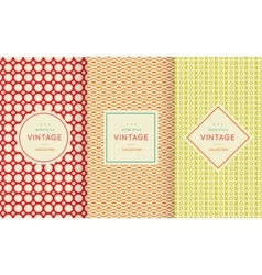Retro vintage seamless pattern vector image