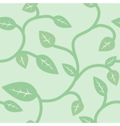 Seamless Summer and Spring Pattern with Leaves vector image