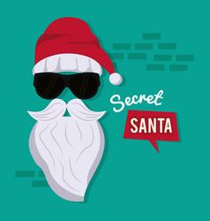 Secret santa cartoon vector