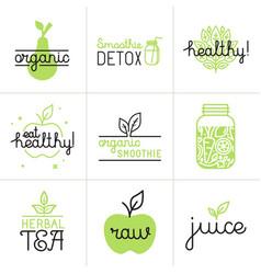 set of logo design elements and badges vector image