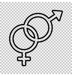 Sex symbol sign Line icon vector