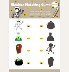 Shadow matching game halloween 9 vector