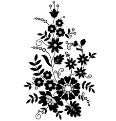 silhouette flowers vector image