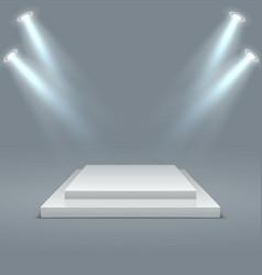 square illuminated podium stage pedestals winner vector image