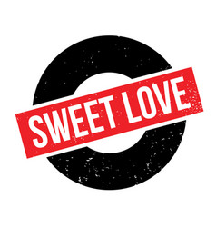 Sweet love rubber stamp vector