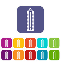 thermometer indicates low temperature icons set vector image
