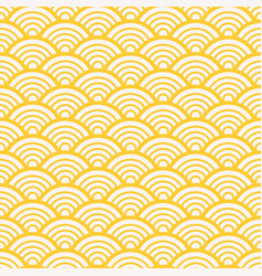 Traditional asian gold wave pattern vector